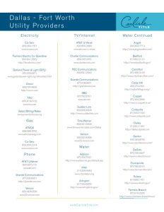 DFW Utility Providers