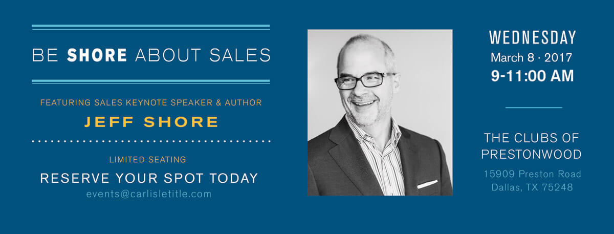 """Be Shore About Sales"" by Jeff Shore"